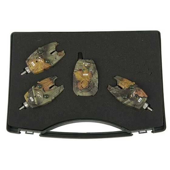 Carp Spirit 3 VTE Camo Alarms Set with VTRE Receiver