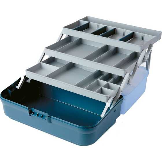 Lineaeffe 3 Compartment Tool Box With Transparent Lid