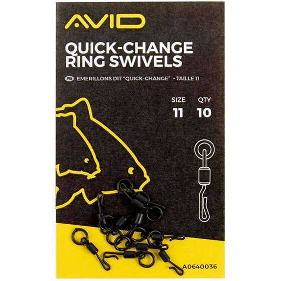 Avid Carp Quick Change Ring Swivels Size 11