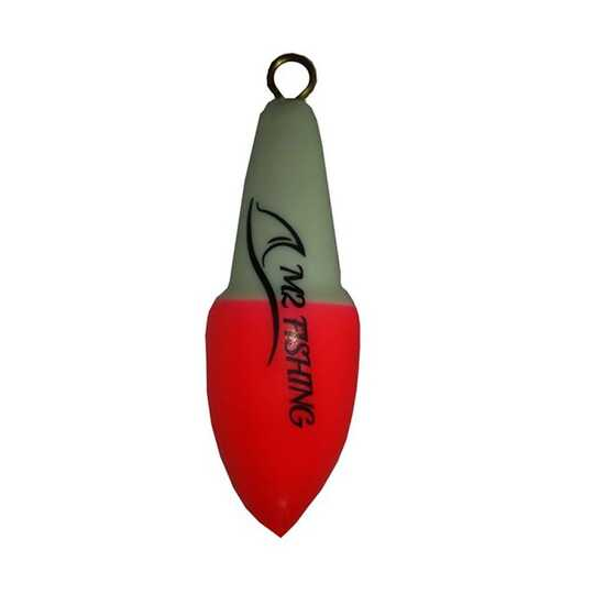 M2 Fishing Surf Top Bicolore Blanc-Rouge