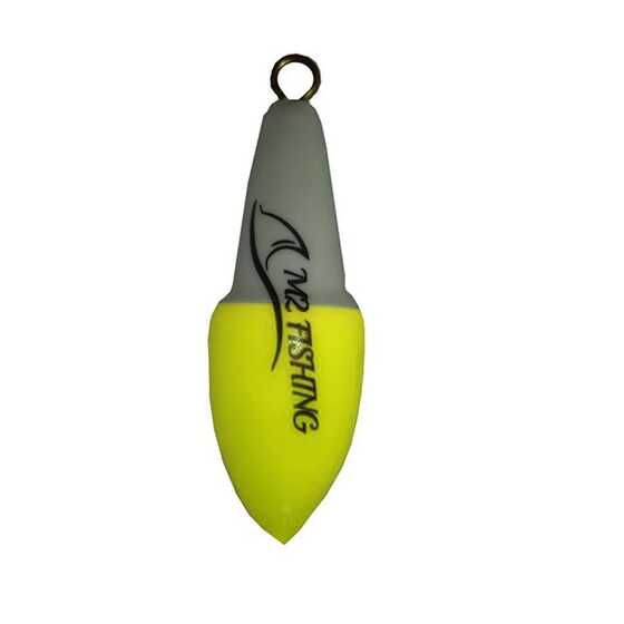 M2 Fishing Surf Top Bicolore Blanc-Jaune