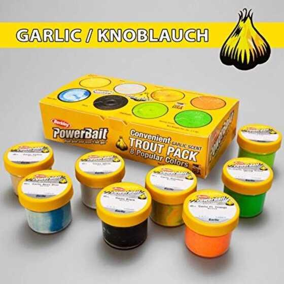 Berkley Pack de 8 Pastas Scent Ajo Colores Surtidos