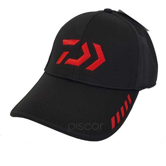 Daiwa Casquette Black - Red Free
