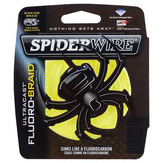 Spiderwire New Ultracast Fluorobraid Yellow