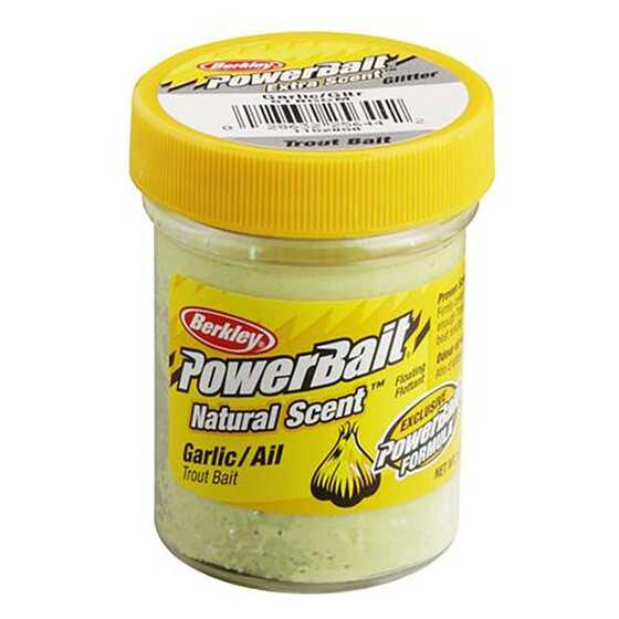 Berkley Pasta Trucha PowerBait Natural Scent Garlic Glitter