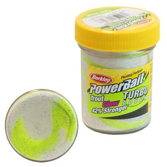 Berkley Pasta Trucha PowerBait Glow in the Dark Chartreuse-White Glow