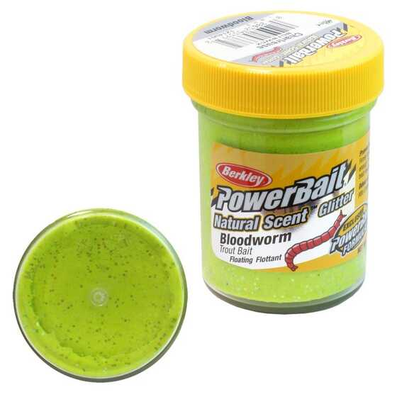 Berkley Pasta Trucha PowerBait Natural Scent Bloodworm Chartreuse