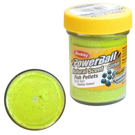 Berkley Pasta Trucha PowerBait Natural Scent Fish Pellet Chartreuse