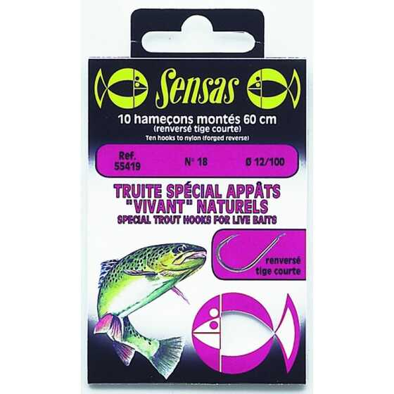 Sensas Trout Reversed Short Shank