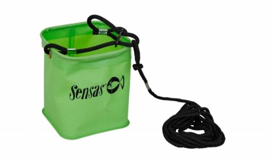 Sensas Waterproof Green Bucket With Cord