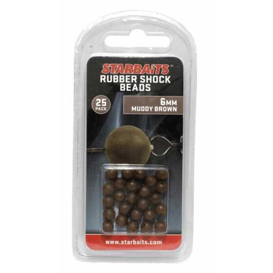 Starbaits Rubber Schock Beads 6mm