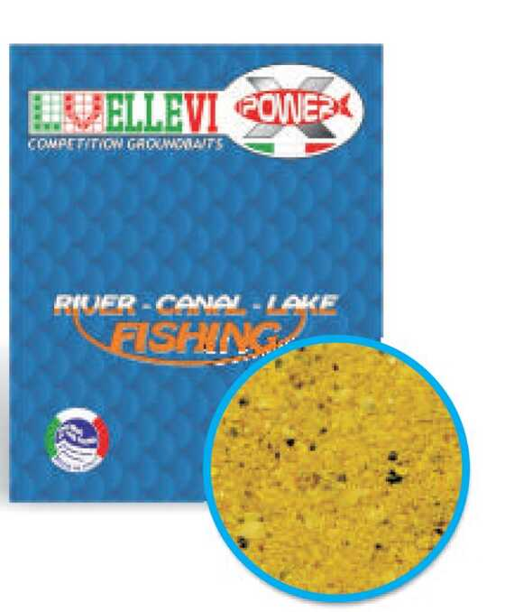 Ellevi Top Game Amorce de Fond Fleuve Eau Courante Carpe-Carassin-Rotengle-Brème