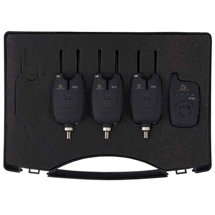 Carp Spirit Set Of XTE Alarms and XTRE Receiver - 3 XTE Alarm & 1 Receiver Set