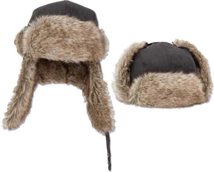 Zebco Fur Hat - One Size - Colour Black