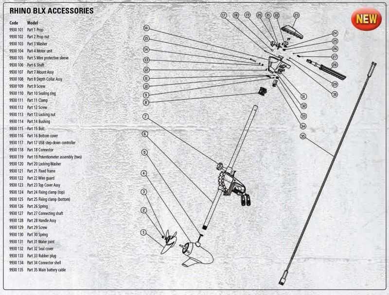 Rhino Muelle para Motor Eléctrico BLX 70 - Parte 26