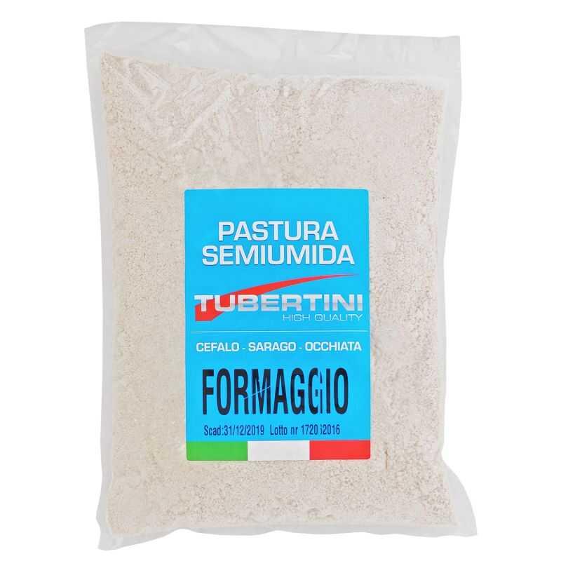 Tubertini Amorce Mi-Humide au Fromage - Mulets - Sargues - Oblades - 2 kg - Moyenne-Grande - Couleur Gris - Parfum Fromage