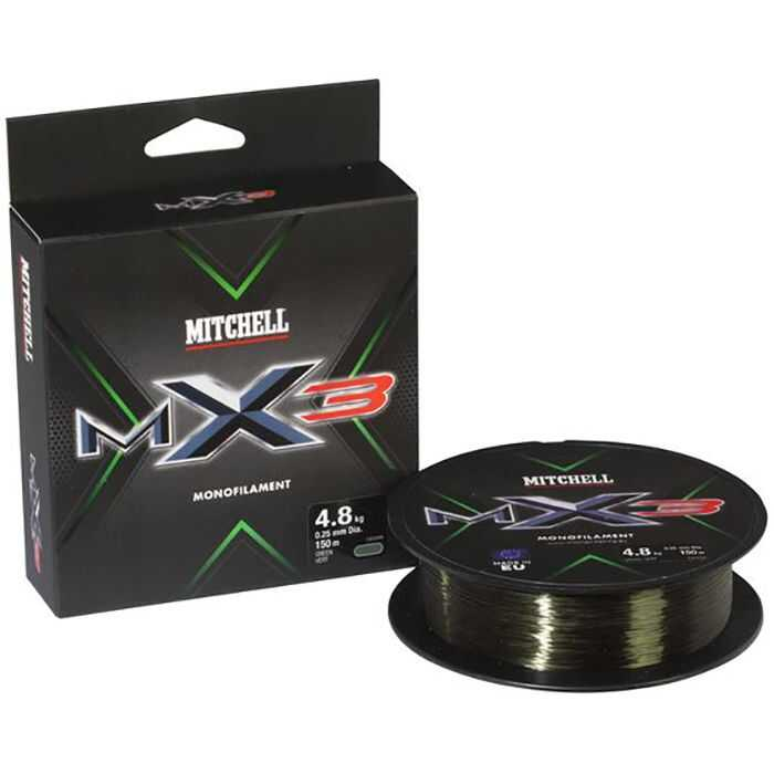 Mitchell MX3 Low Vis Green - 0.10 mm - 150 m