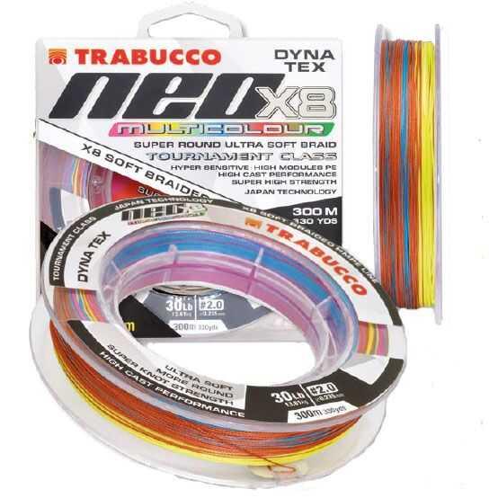 Trabucco X8 Multicolour - 0.148 mm - 0.8 PE - 300m-330 yds