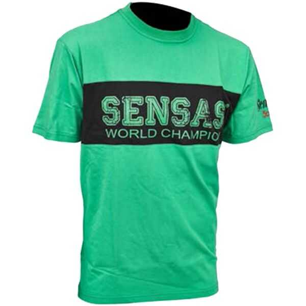 Sensas T Shirt Bicolore Verde Nera Club - S