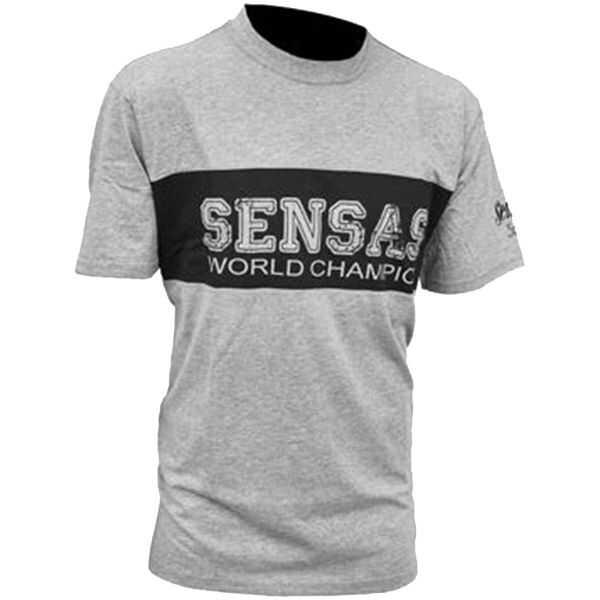 Sensas T Shirt Club Bicolore Grigio Nera - S