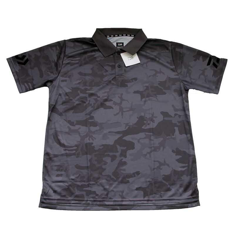 Daiwa Polo T-shirt Gray Camo - L