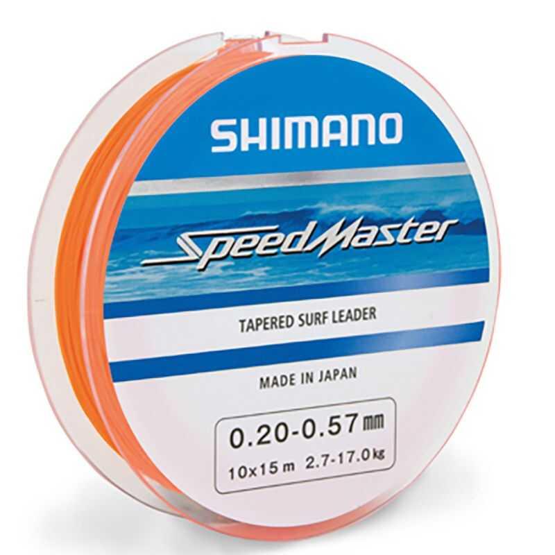 Shimano SpeedMaster Tapered Surf Leader - 0.18-0.50 mm - 10x15 m