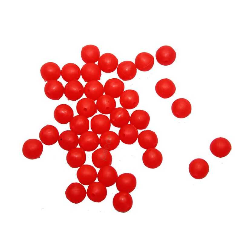 Contumax Fluo Red Soft Round Bead - 6 mm