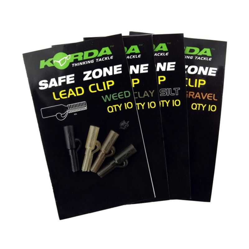 Korda Safe Zone Lead Clips - Weed