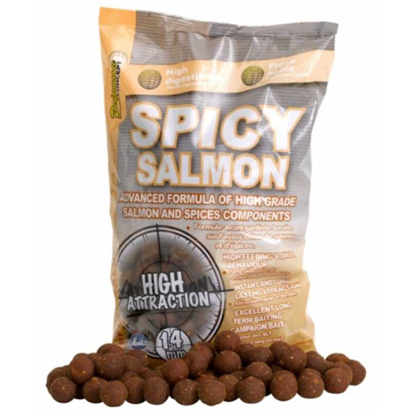 Starbaits Concept Boilies Spicy Salmon - 14 mm - 1 kg