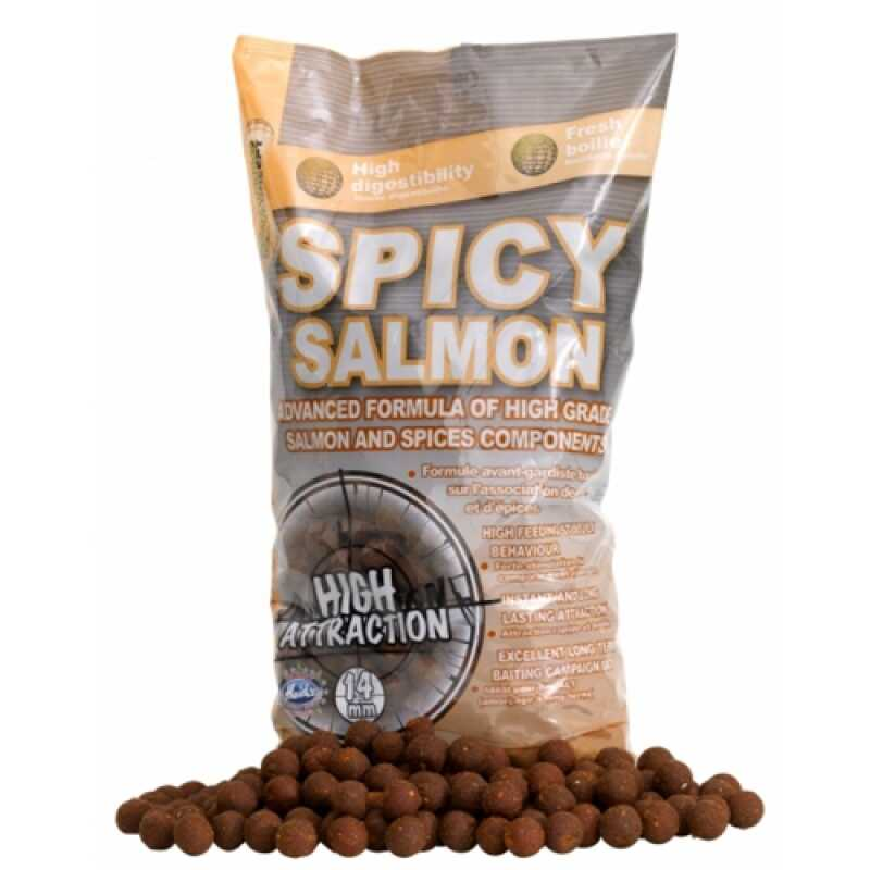 Starbaits Concept Boilies Spicy Salmon - 14 mm - 2.5 kg