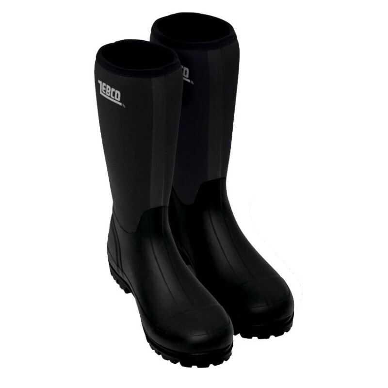 Zebco Dark Star Rubber Boots - 40 - Black