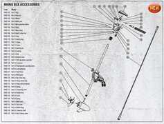 Rhino Borne de Fixation pour Moteur Electrique - Partie Inférieure BLX 70